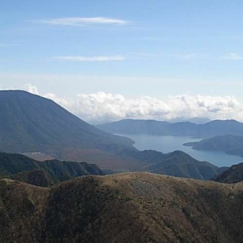 日光白根山の頂上からの眺め