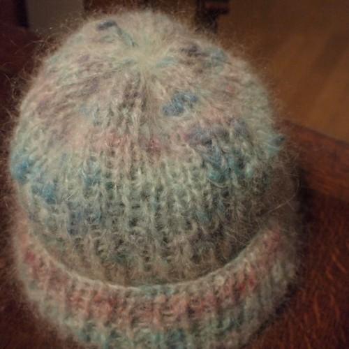 虹色の帽子