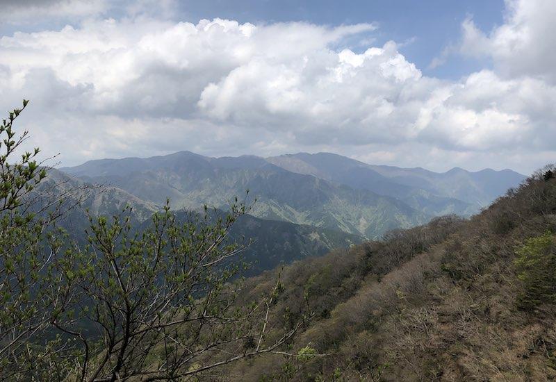 大山山頂付近からの眺め