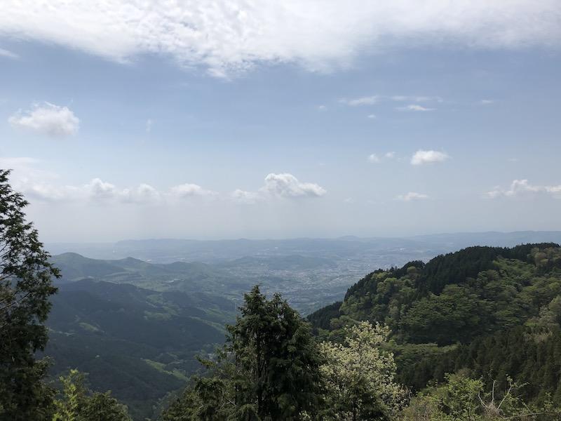 ヤビツ峠付近からの眺め