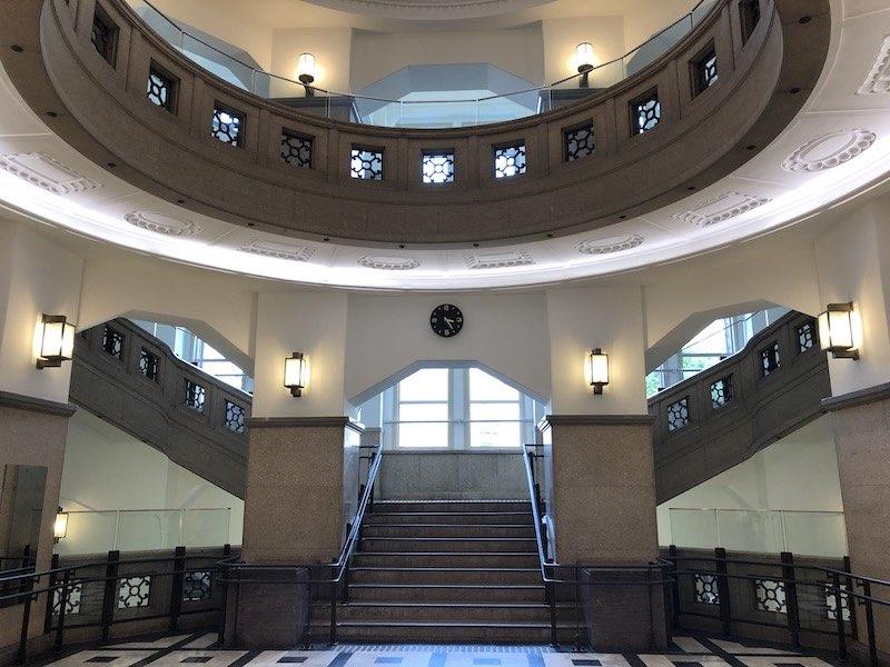 港区立郷土歴史館のエントランスホール