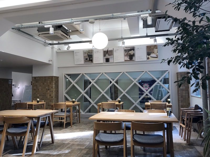 港区立郷土歴史館のカフェ