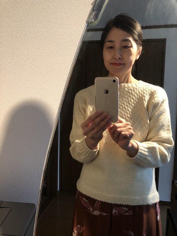 白いセーター05
