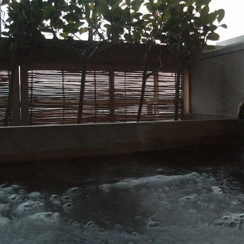湯田中温泉の露天風呂