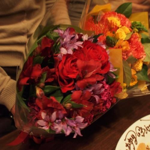 誕生日会の花束