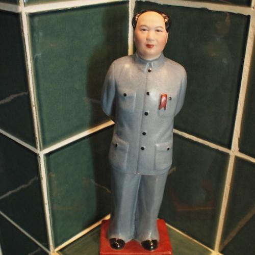 バスルームの毛沢東