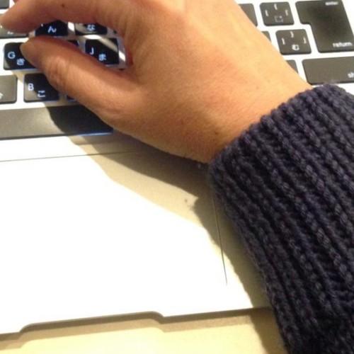 編み直しのセーター
