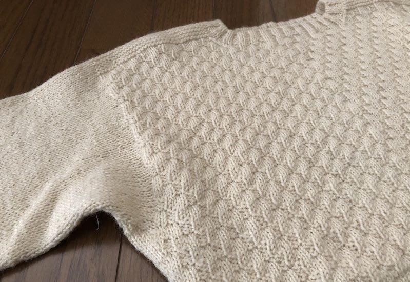 白いセーター04